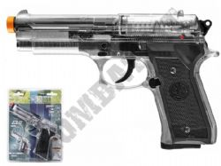 Beretta Elite II M92 Airsoft Pistol CO2 Gas BB Gun Clear Black 2 Tone